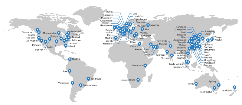 cloudfare wereldwijd overzicht