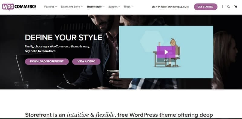 storefront gratis wordpress theme