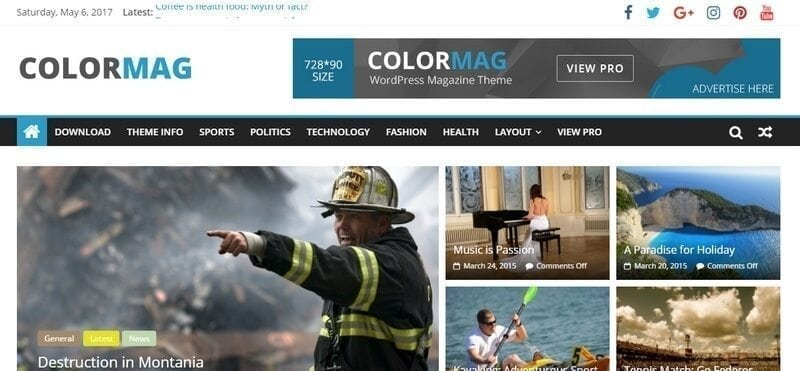colormag gratis wordpress theme