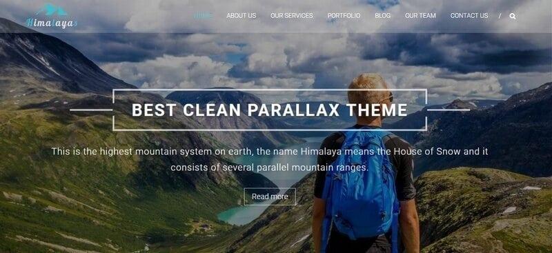 himalayas gratis wordpress theme