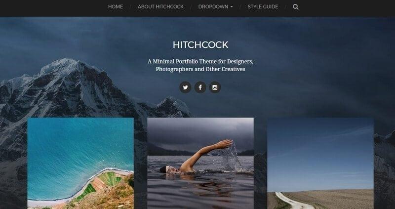hitchcock gratis wordpress theme