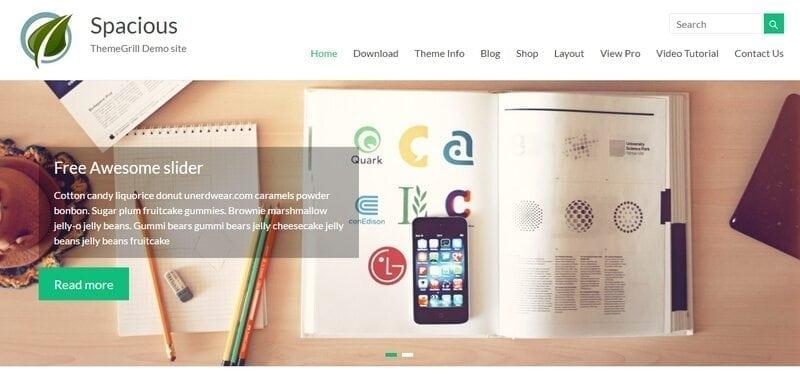 spacious gratis wordpress theme