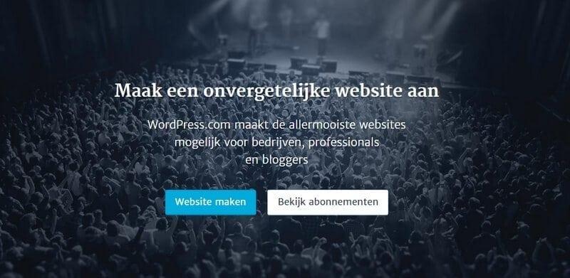 wordpress-com account aanmaken