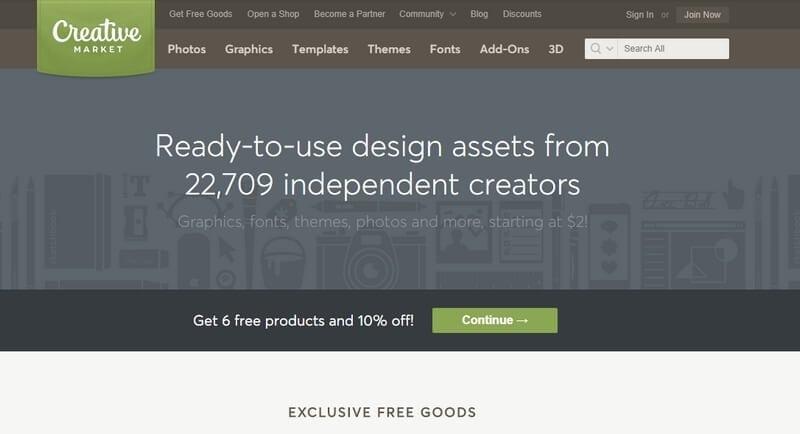 creative market theme kopen