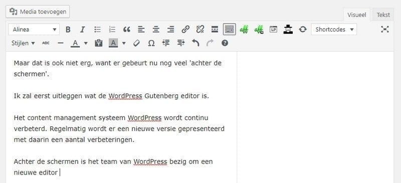 WordPress-editor-oud