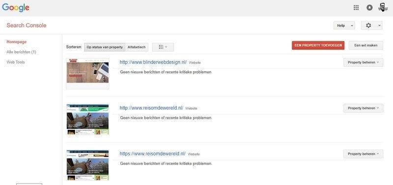 google search console inloggen