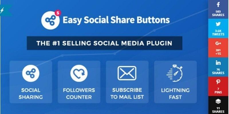 Easy social share button plugin