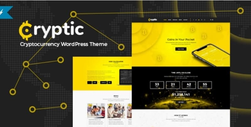 cryptic bitcoin wordpress theme
