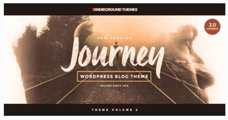 journey reisblog theme
