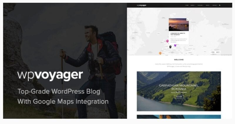 wpvoyager reisblog theme