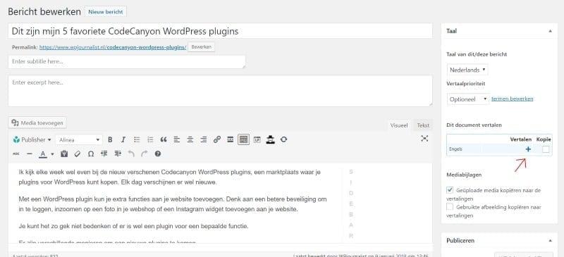 nederlandse vertaling WPML