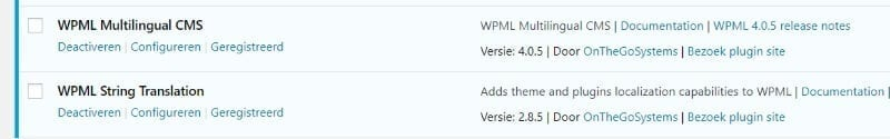 twee plugins WPML