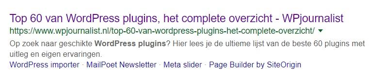 META omschrijving in zoekmachine
