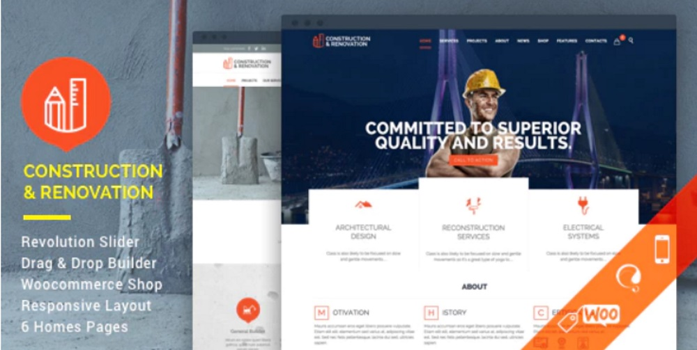 construction building wordpress
